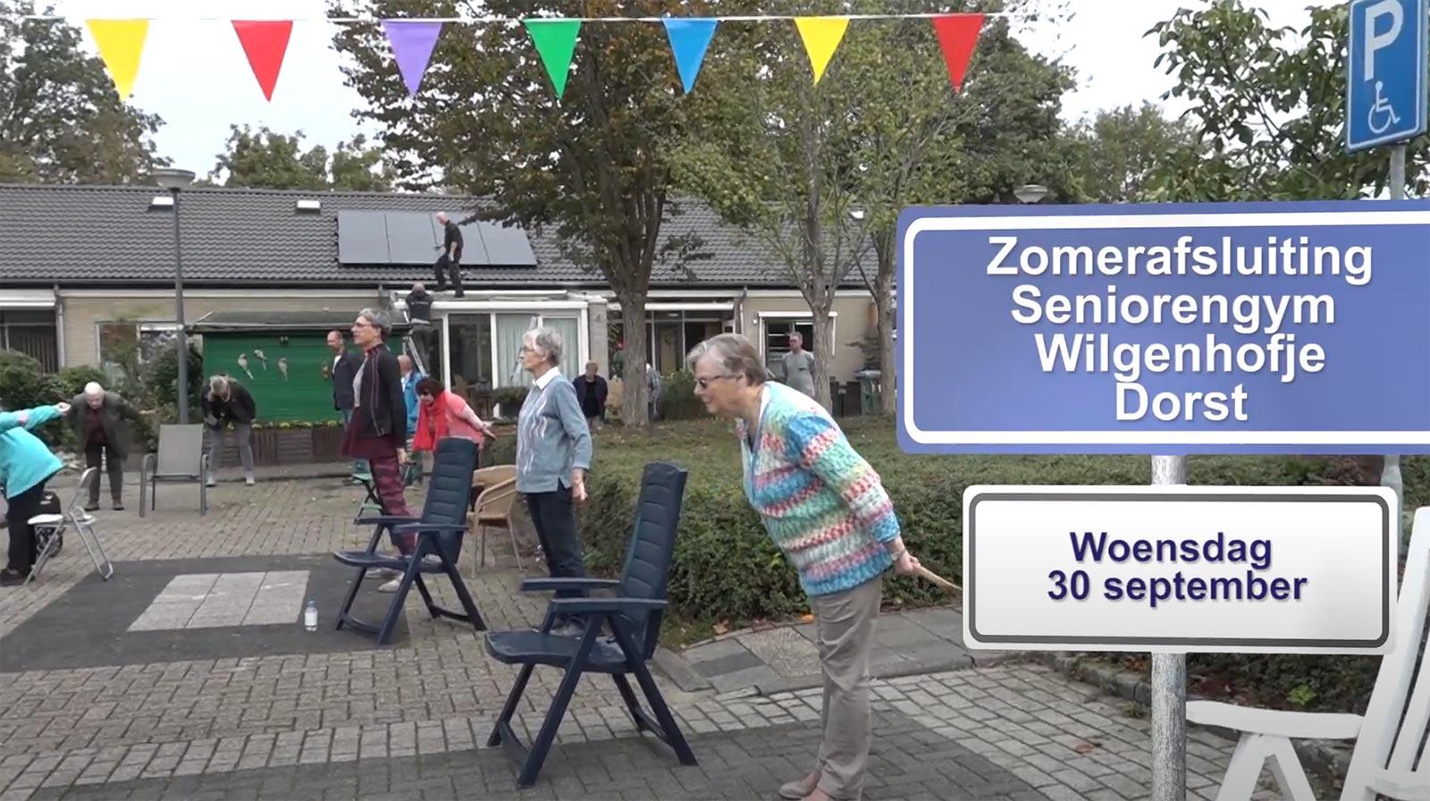 Op 30 sep werd het corona-initiatief van Simone van Mierlo, bewegen voor ouderen in de Wilgenhof in Dorst, feestelijk afgesloten